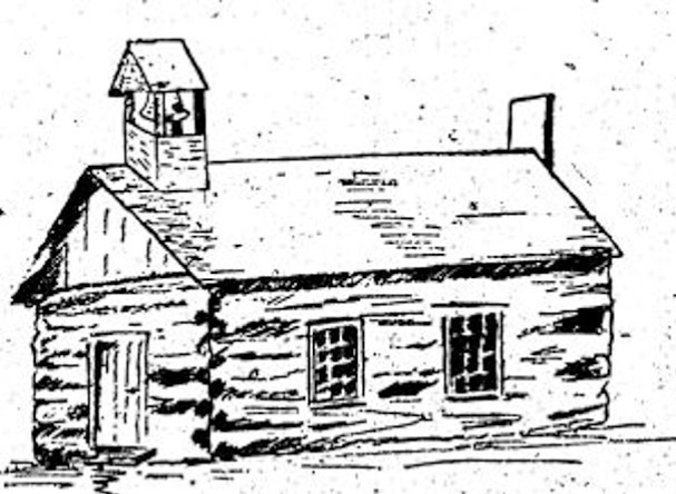 Line drawing of 1825 Church